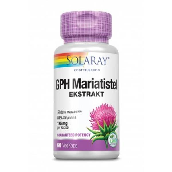 Mariatistel ekstrakt GPH 60 kapsler Solaray