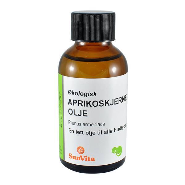 Aprikoskjerneolje økologisk kaldpresset Sunvita 100 ml