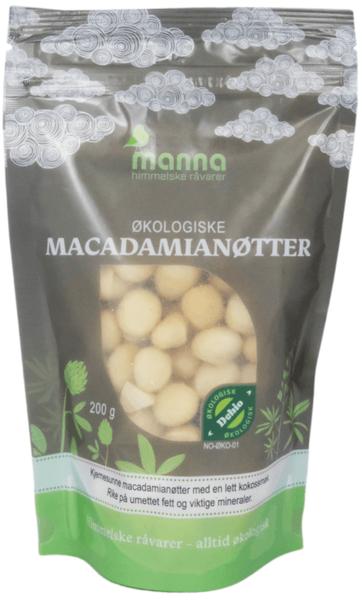 Macadamianøtt økologisk uten salt 200 g Manna