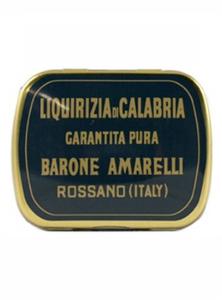 Bilde av Ekte lakrispastiller i liten blikkeske 20 g Amarelli