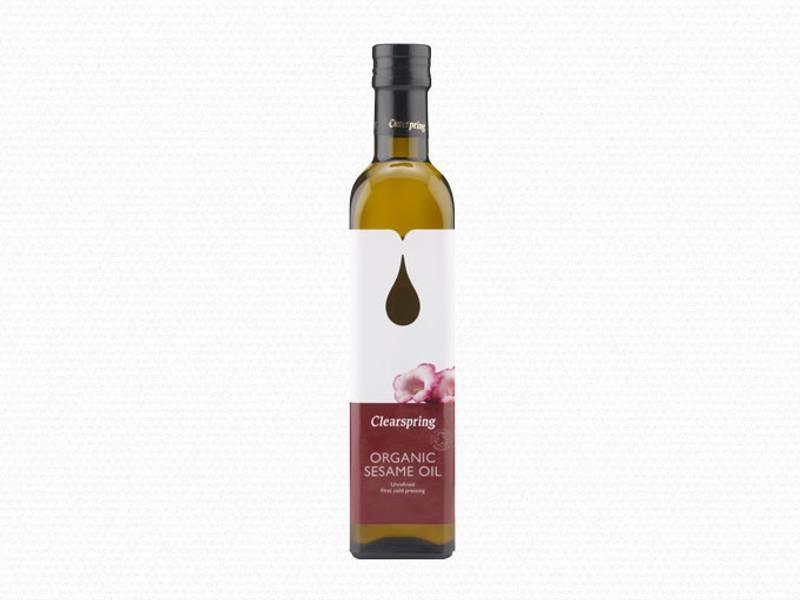 Sesamolje økologisk kaldpresset Clearspring 500 ml