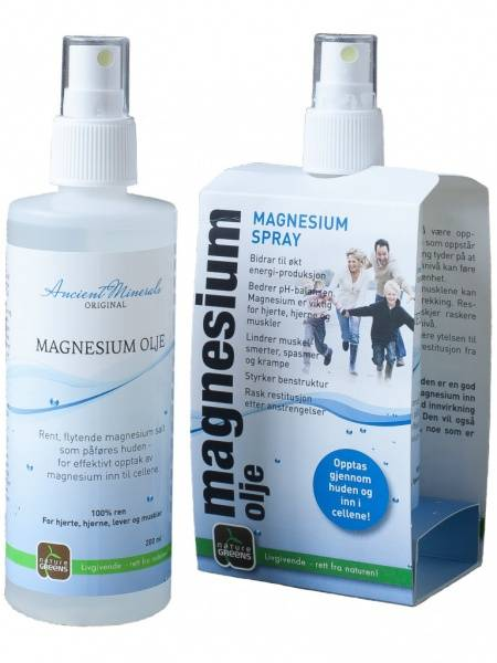 Magnesiumolje / magnesiumspray 200 ml Nature Greens