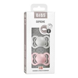 Bilde av BIBS Supreme Smokk 2-pk Silicone, Haze & Blossom