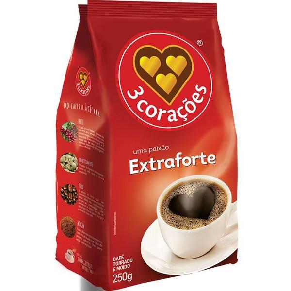 Bilde av 3 CORAÇÕES malt kaffe (ekstra sterk) Kaffe ekstra-forte 250g