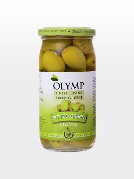 Bilde av Olymp Grønne Oliven stenfri 500g