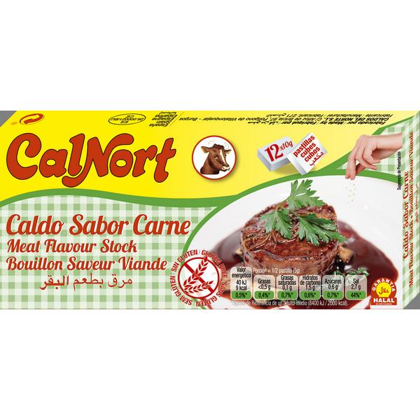 Bilde av CALNORT Caldo sabor Carne-Kjøttbuljong 12x10 120g