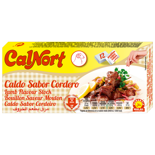 Bilde av CALNORT Caldo Sabor Cordero-Lammebuljong 12x10 120g