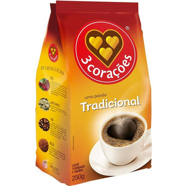 Bilde av 3 CORAÇÕES malt kaffe tradicional 250g