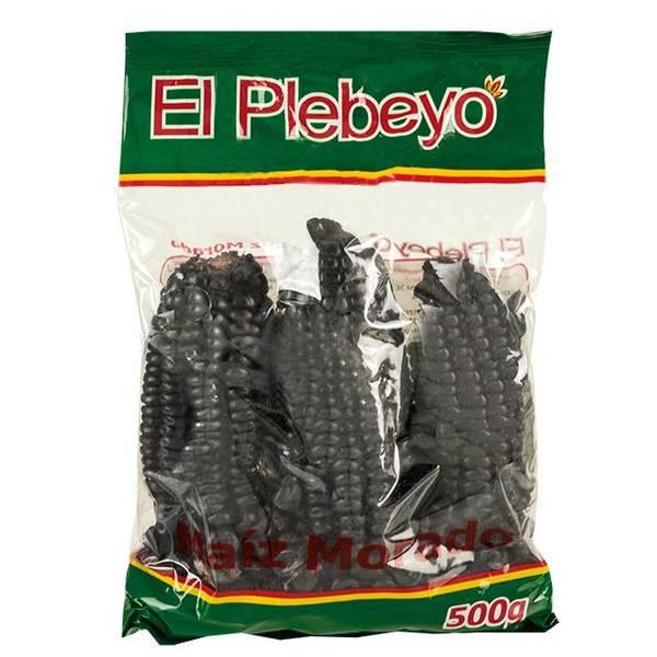 Bilde av EL PLEBEYO Tørket lilla maiskolber Maíz Morado 500g