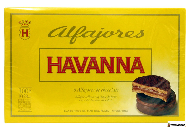 Bilde av Alfajores Havanna - Sjokolade 6 stk