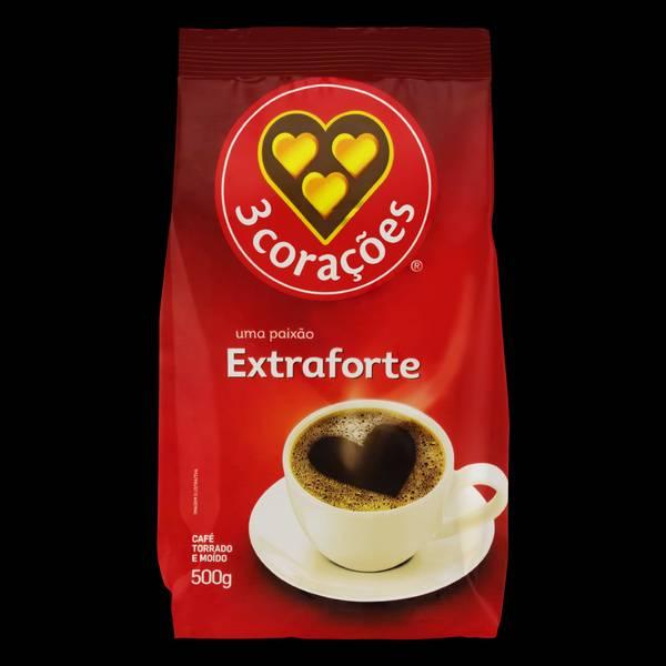 Bilde av 3 CORAÇÕES malt kaffe (ekstra sterk) Kaffe ekstra-forte 500g