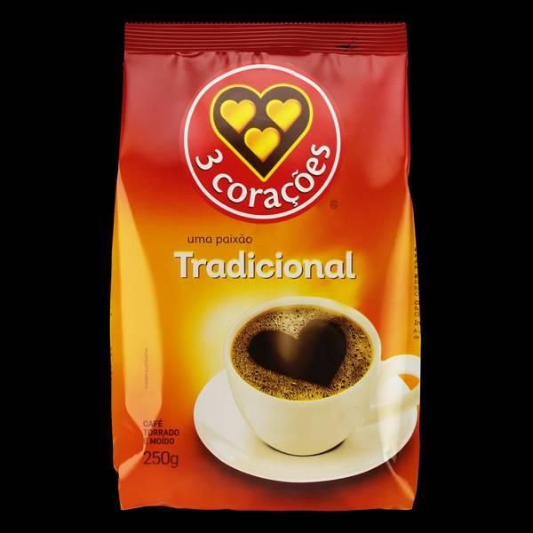 Bilde av 3 CORAÇÕES malt kaffe tradicional 500g