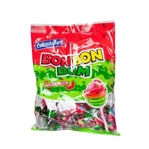 Bilde av COLOMBINA Lollipop Vannmelon og tyggegummikjerne 408g