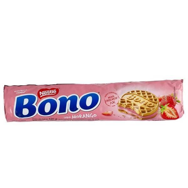 Bilde av BONO jordbærkjeks Recheado MORANGO 126g
