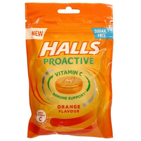 Bilde av Halls Proactive Orange 65g