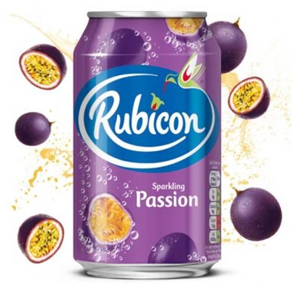 Bilde av Rubicon Sparkling Passion Fruit Juice Drink 330 ml