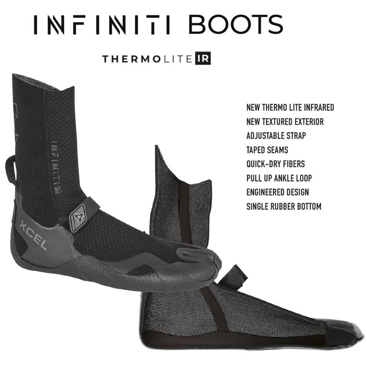 Xcel - 8mm Infiniti Round Toe Våtdraktsko (2021)