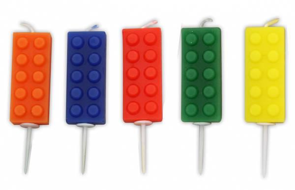 Bilde av Kakelys, Lego, 5 stk