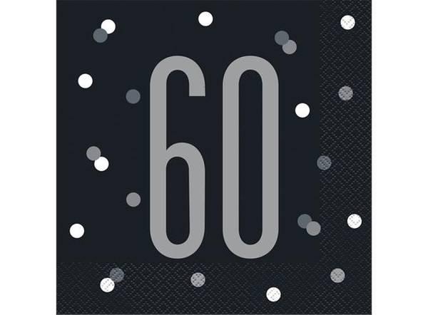 Bilde av Sort og Sølv 60 År Servietter