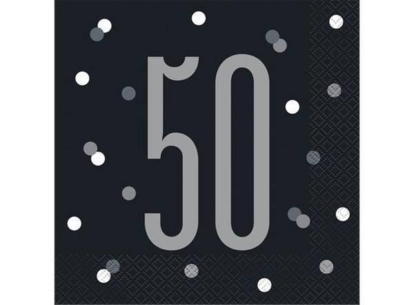 Bilde av Sort Og Sølv 50 År Servietter