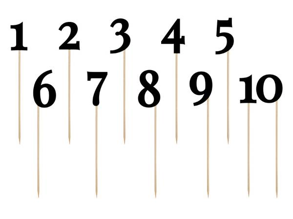 Bilde av Bordnummer, Tall på pinner