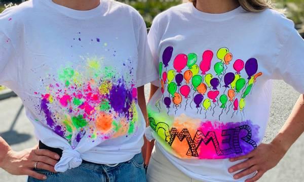Bilde av Mal din egen SOMMER T-Skjorte,Str. M -Ink. Tekstilmaling og Tusj