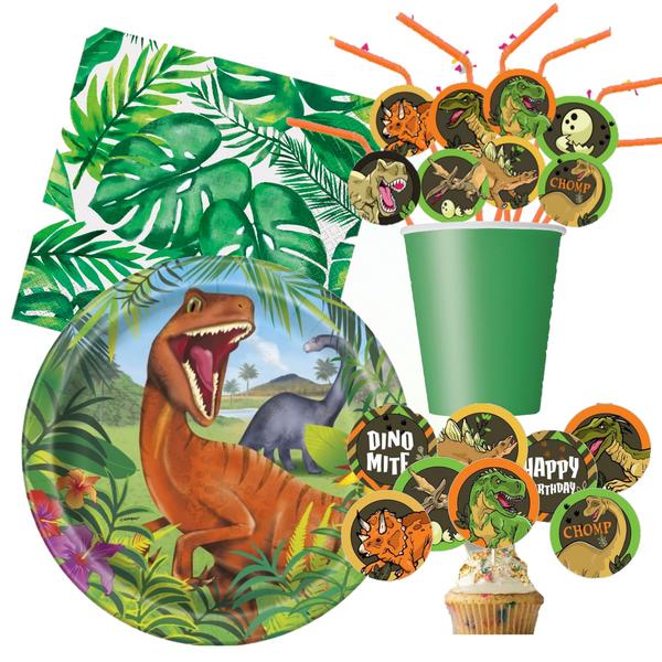 Bilde av Dinosaur,Party Bursdagspakke, 16 pers