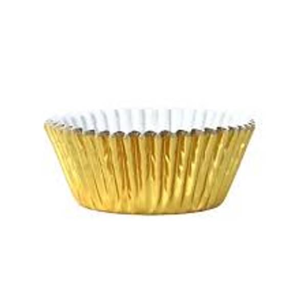 Bilde av Metallisk gull, muffinsformer, 30 stk