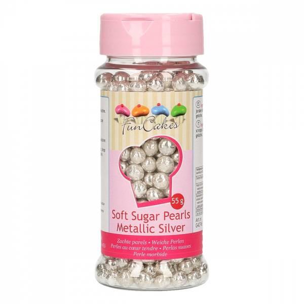 Bilde av Myke sukkerperler, Sølv metallic
