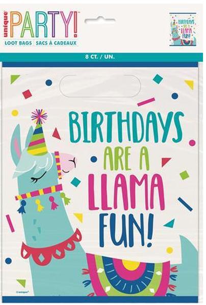 Bilde av Llama Party Godteriposer, 8 stk