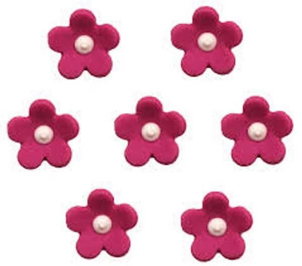 Bilde av Sukkerpynt, Blomster Fuschia, 7 stk