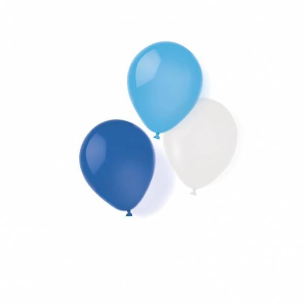 Bilde av Blå og hvite ballonger, 8 stk