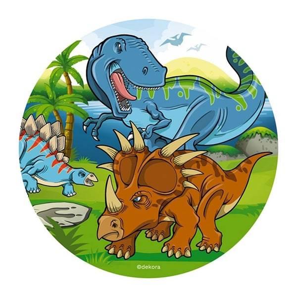 Bilde av Dinosaur Kakebilde, 1,  Sukkerpapir, 20 cm