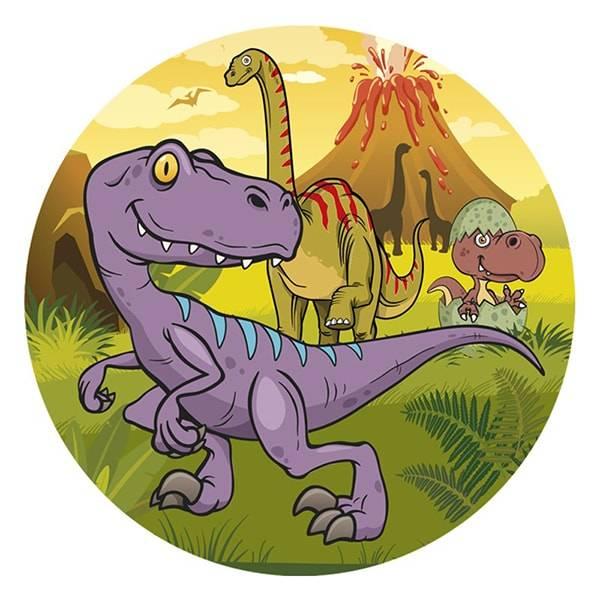 Bilde av Dinosaur Kakebilde, 5,  Sukkerpapir, 20 cm