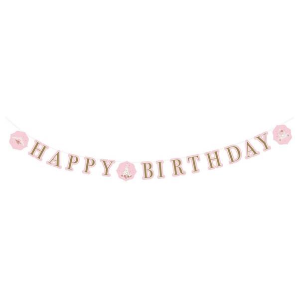 Bilde av Svaneprinsesse, Happy Birthday Banner