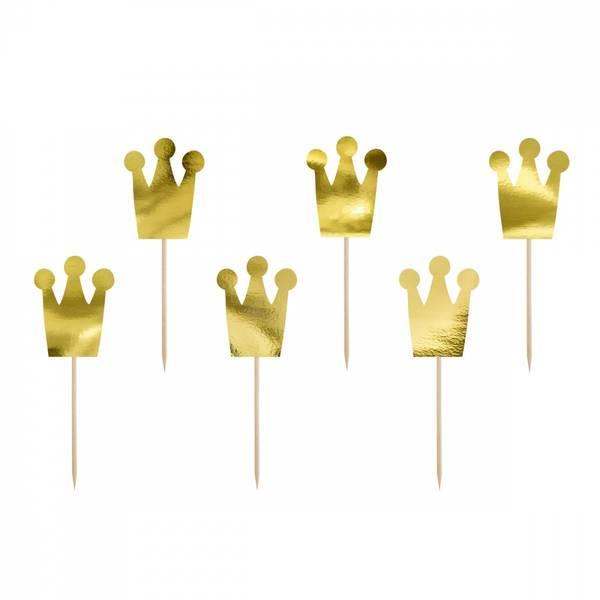 Bilde av Prinsessekrone cupcake toppers, 6 stk