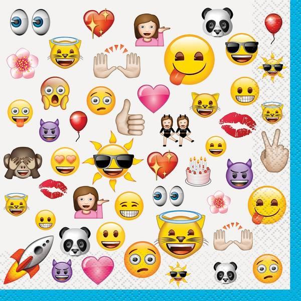 Bilde av Emoji Servietter 2, 16 stk