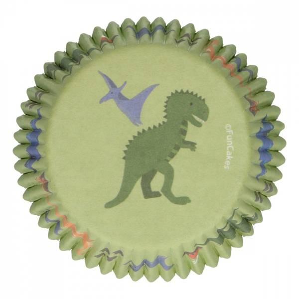 Bilde av Grønn Dinosaur, Muffinsformer, 48 stk