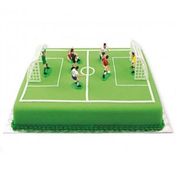 Bilde av Fotball, kakedekorasjonssett, 9 deler