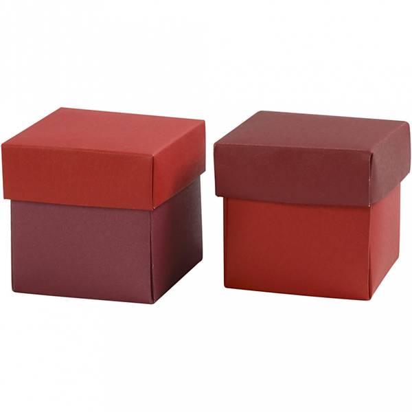 Bilde av Brett-selv-eske, Rød/vinrød, 10 Stk.