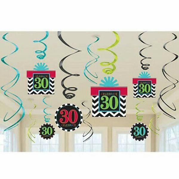 Bilde av 30 år, Hengende Dekorasjoner, Swirl