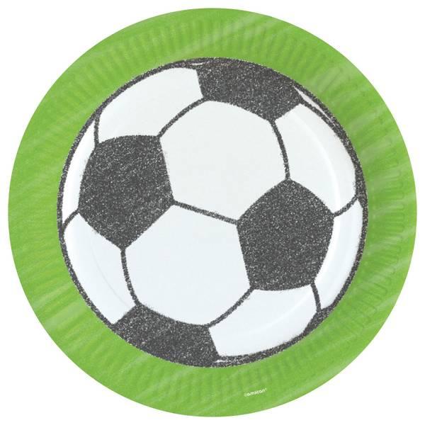 Bilde av Fotball tallerken 3, 8 stk
