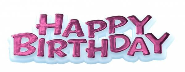 Bilde av Happy Birthday Kaketopper, Rosa