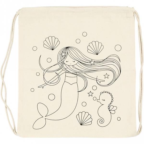 Bilde av Dekorer din egen Gymbag, Havfrue- ink Tekstiltusjer