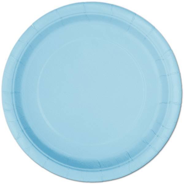 Bilde av Lyseblå tallerker, 22cm, 16 stk