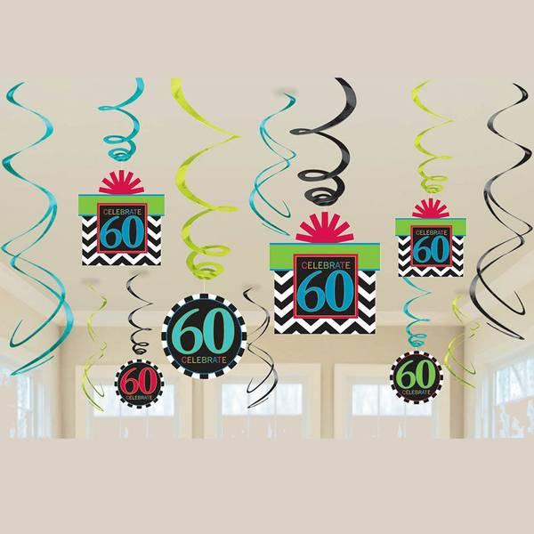 Bilde av 60 år, Hengende Dekorasjoner, Swirl