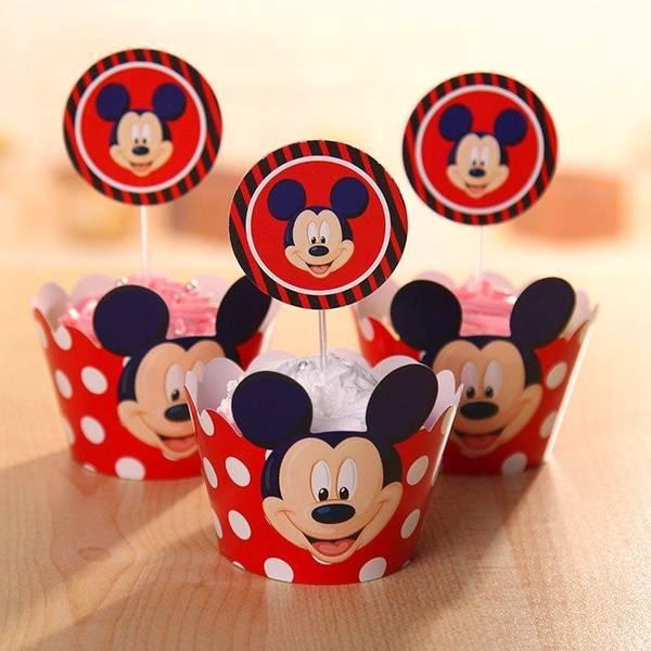 Bilde av Mikke Cupcake wrappers, 12 stk