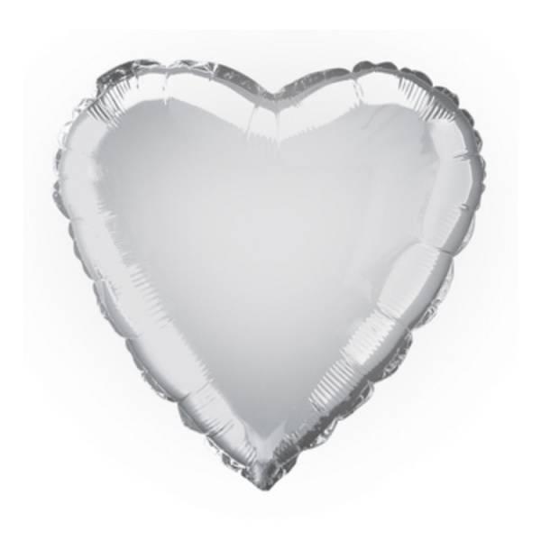 Bilde av Hjerte folieballong, sølv