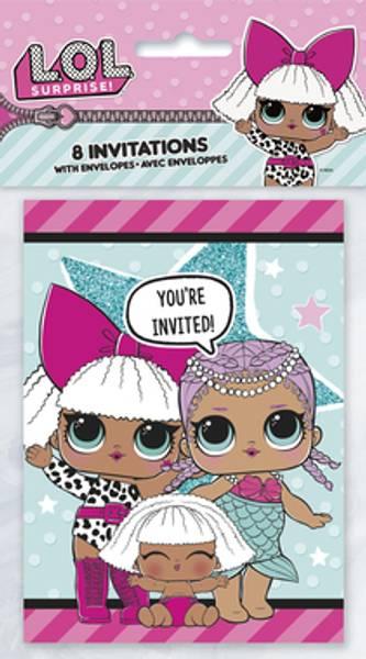 Bilde av LOL Surprise, Invitasjoner, 8stk