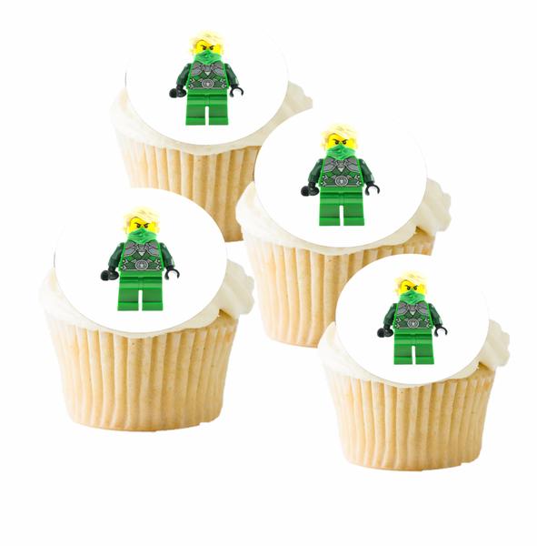 Bilde av Den Grønne Ninja, Muffinsbilder, 12 stk